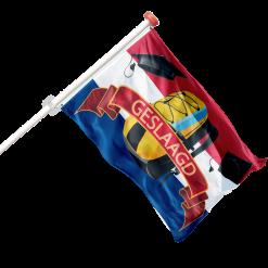 Geslaagd vlaggen